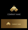 triangle gold arrow logo vector image