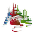 united arab emirates dubai cityscape or skyline vector image vector image