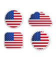 USA flag labels vector image