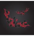 vampire icons in dark bat shape eps10 vector image vector image