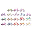 various types of bikes for male female and kids vector image