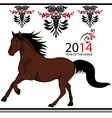 Wild horse vector image vector image