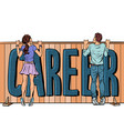 youth and career barriers discrimination against vector image vector image