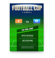 football or soccer poster with text design vector image