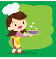 Young girl chef precent vector image