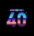 40 years anniversary celebration logotype vector image vector image