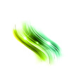abstract wave new green vector image vector image