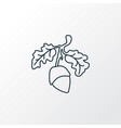 acorn icon line symbol premium quality isolated vector image vector image