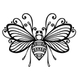 Beautiful Bee Exotic Insect vector image vector image