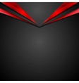 Black red contrast corporate background with vector image vector image