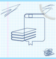 book line sketch icon isolated on white background vector image