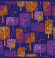bright vivid autumn park tree seamless pattern vector image vector image
