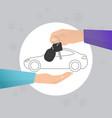 car rental vector image vector image