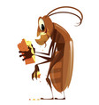 cartoon cockroach vector image vector image