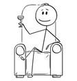 cartoon succesful man or businessman or vector image vector image