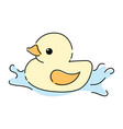 cartoon yellow duckling toy duckling for the vector image