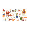 christmas celebration set vector image