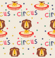 circus lion seamless pattern vector image
