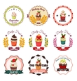 Collection of vintage retro bakery badges and vector image vector image