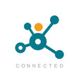 connected technology logo vector image vector image