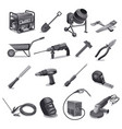 construction work tools vector image