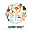 cosmetology and woman beauty salon poster vector image vector image
