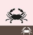 crab symbol vector image