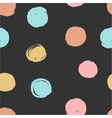 Cute hand drawn seamless dots patterns collection vector image vector image