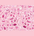 cute seamless pattern with colorful sweets cakes vector image vector image