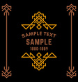 Decorative Geometric Logo and Borders Brown on vector image vector image