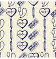 doodle seamless Medicine vector image vector image