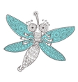 Dragon fly doodle vector image vector image