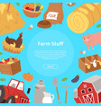 farm stuff and agribusiness background bannner vector image vector image