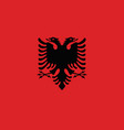 flag of albania vector image vector image