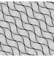 geometric wave pattern seamless background vector image