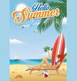 girl sunbathing at beach in summer vector image vector image