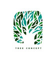 green tree concept symbol design for nature care vector image