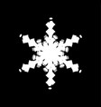 grunge isolated snowflake vector image vector image