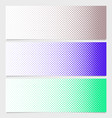halftone dot pattern banner template - graphic vector image vector image