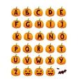 Halloween font alphabet set vector image vector image