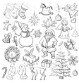hand drawn christmas and new year elements vector image vector image