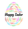 happy easter design for holiday greeting card vector image