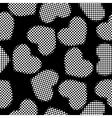 hearts halftone vector image