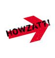 howzat rubber stamp vector image