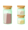Jar with cooking spices and ingredients pepper vector image