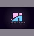 jh alphabet letter join joined letter logo design vector image vector image