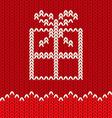 Knitting gift vector image vector image