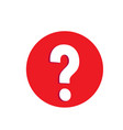large white question mark in the red circle vector image