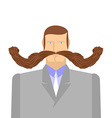 Man with mustache Barbel Big and heavy mustache A vector image