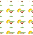 Martini seamless pattern vector image vector image